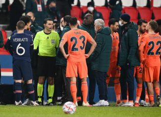 PSG players walk off over alleged racism by match official